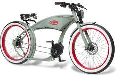 The Ruffian – erstes Chopper eBike mit Bosch-Antrieb - Pedelecs und E-Bikes Electric Cargo Bike, Best Electric Bikes, Velo Retro, Velo Vintage, Vintage Bicycles, Ducati, Cruiser Bicycle, Motorized Bicycle, Baby Bicycle