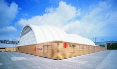 Павильон Японии на Экспо-2000 в Ганновере. Архитекторы Шигеру Бан, Фрай Отто