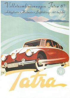 Tatra 87; 3 headlights!