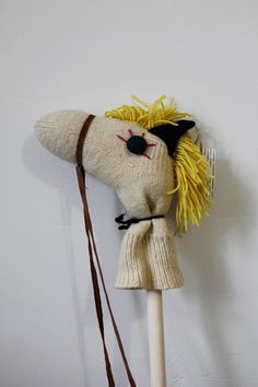 never thought to use a sock for a diy stick horse