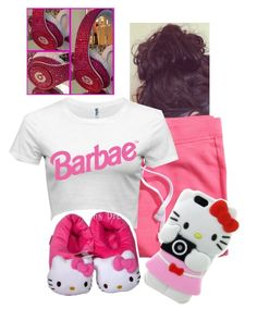 """""""Barbae"""" by sheztrendy ❤ liked on Polyvore featuring H&M and Hello Kitty"""