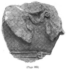Fragment of statue from Alesia: an armoured torso, presumably wearing mail: the hook on the chest is clear, and it seems to retain not square-cut shoulder pieces, but draped ones (with the rolled-up edge). From Bull Senon-en-Auxois 1906-7 (first publication); the piece must be in Espérandieu's catalogue of Gaulish sculpture, vol. 3 (1910).
