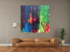 Bunt, Abstract Art, Modern, Beautiful, Painting, Abstract Canvas Art, Art Production, Trendy Tree, Painting Art