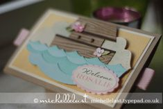 New Baby card using Zoo Babies from Stampin' Up! - with Michelle Last