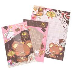 Choco-choco bear Letter Set