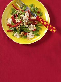 Paprika-Zuckerschoten-Salat