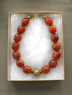 SENAA amber resin necklace FINAL SALE by Zarephath on Etsy