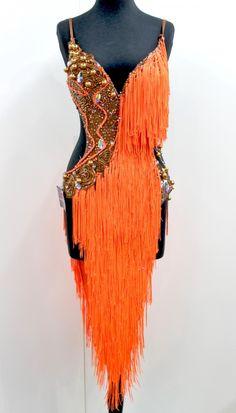 Orange fringe with gold accents