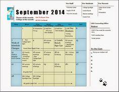 My 2014-2015 school counseling program calendar