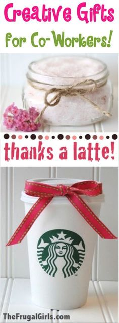BIG List of Creative Gift Ideas for Co-workers! ~ from TheFrugalGirls.com ~ you'll love this HUGE list of creative coworker gifts for the holiday season and beyond! #thefrugalgirls