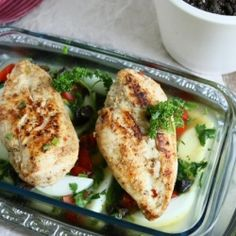 Arabic Style Baked Chicken Breast HealthyAperture.com