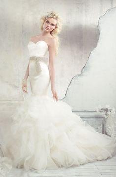 Alvina Valenta - Sweetheart Mermaid Gown in Silk Satin