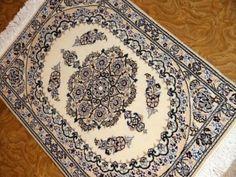 高級玄関マットナイン産手織りペルシャ絨毯58053、エレガントデザインペルシャ