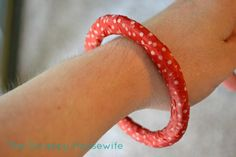 The Scrappy Housewife: Washi Tape Bangle