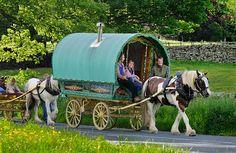 gypsy caravan images | loved the vintage horse drawn gypsy caravans meandering through ...