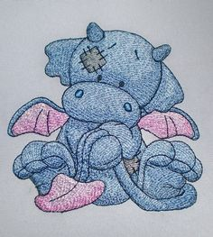 Dragon Flame machine embroidery design by ArtEmbroideryDesigns, would look lovely on a baby boy diaper/nappy bag