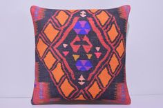 VIEW ALL DECOLIC PRODUCTS http://www.etsy.com/shop/DECOLICKILIMPILLOWS  1- Size: 18x18 Inches / 45x45 cm. 2- Material: Cotton 3- Front side: Hand Print Pattern Kilim Cotton Fabric. Weight: 3.2 LBS / Square Yard 4- Back side is cotton fabric with hidden zipper. 5- Shipping worldwide. ----------------------------------------------------------------------------------------------- You can also buy insert for this pillow cover by visiting: www.etsy.com/listing&#x...