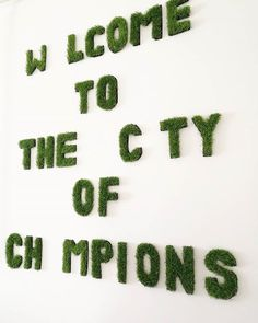 Welcome to the city of champions.  #emilhartvig #caledonianjane #project #art #wallart #walldecor #decor #diy #fakegrass #artificalgrass #sundayfunday #weekendproject #home #homedecor #fancy #doityourself #crafty #craft #design #homedesign #mik #instagood #creative