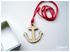 Anker Kette // Anchor necklace by Maedchenwahn via DaWanda.com
