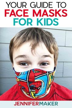 Cricut Face Mask for Children Pattern with Filter Pocket, Adjustable Ties, and Nose Guard - Free Printable Pattern and SVG Cut File for Cricut Diy Mask, Diy Face Mask, Face Masks For Kids, Carnival Masks, Making Faces, Child Face, Pocket Pattern, School Shopping, Mask Design