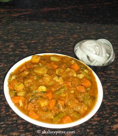 Mixed vegetables north indian punjabi style recipe in hindi with mix vegetable kurma korma tarakari kurma side dish for rotis and pulav forumfinder Choice Image