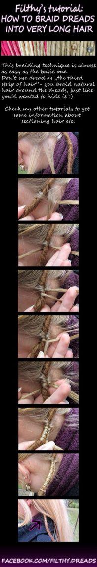 How to do a dreadlock / dreads / homemade / style / hipie / ideas / hair / custom