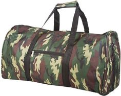 Camoflauge Green Travel Gym Bag Reviews - OMJ Outdoors