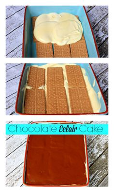This Chocolate Eclair Cake requires no baking!