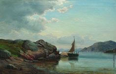 Lev Lagorio - Sailboat in the Bay (1895)