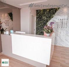 Office Reception Design, Home Office Design, Salon Interior Design, Salon Design, Dental Office Decor, Dental Office Design, Spa Treatment Room, Boutique Decor, Counter Design