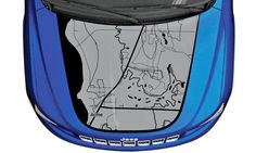 These new map hood decals are pretty sweet! Mopar and 3M teamed up to create them for Jeep Wrangler, Jeep Cherokee and Jeep Grand Cherokee. They're even customizable!