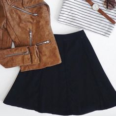H&M Black skirt Sz Small Zipper NWT Size Small can wear with absolutely any outfit !!! Don't miss this one!!! H&M Skirts
