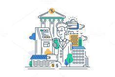 Successful Businessman Illustration. Business Infographic. $5.00