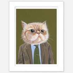 Fab.com   Framed Cat Print Harold