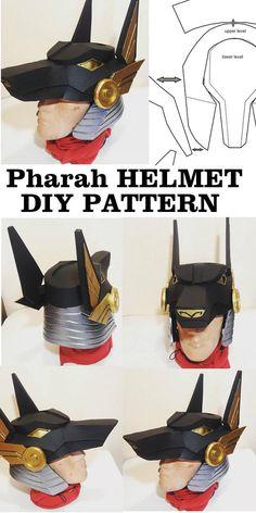 DIY Overwatch Pharah Anubis Helmet Pattern Printable Template Cosplay  Costume Armor Eva Foam Game Helmet 01acef24dc