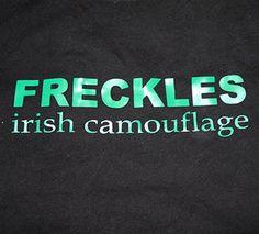 Freckles - Irish Camouflage Irish Tshirt St Patricks Day tshirt funny tshirt st patricks day shirt on Etsy, $20.00