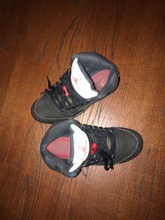 reputable site e5a3a 5949d Air Jordan 5 Retro Metallic Black Size 6 Boy  fashion  clothing  shoes