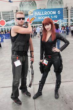 Hawkeye and Black Widow - SDCC 2012 - Hayley Sargent