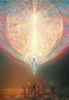 The ascension of Christ - The Apostles didn't see him go, but the Angelic Beings in Heaven saw him come...