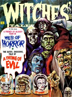 Witches Tales, (Eerie Pubs.March 1973) An image of Barnabas Collins finds it's way to the cover!