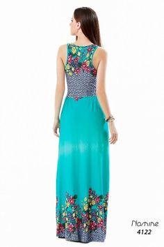 Vestido Longo Estampado Florido