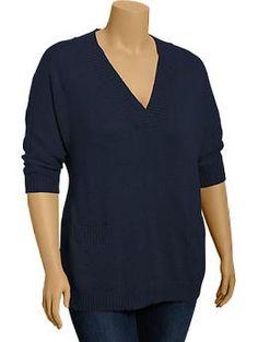 Womens Plus Dolman Sleeve Sweaters