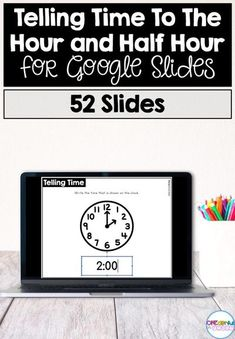 This resource includes 52 slides for telling time to the hour and half hour. Students will practice writing the time, creating a clock to match a given time, sorting between time to the hour and half hour, and matching clocks to times. Fun Math Activities, Learning Resources, Teacher Resources, Creative Teaching, Teaching Math, Teaching Ideas, First Grade Math, Third Grade, Time To The Hour