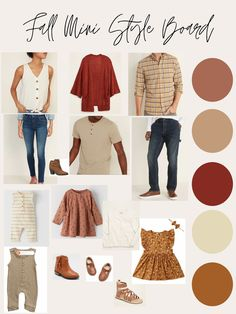 Fall Photo Shoot Outfits, Fall Family Picture Outfits, Family Photo Colors, Family Photos What To Wear, Fall Family Photos, Fall Outfits, Family Pictures, Neutral Family Photos, Family Photography Outfits