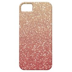 Glittery Gold Melon iPhone 5 case