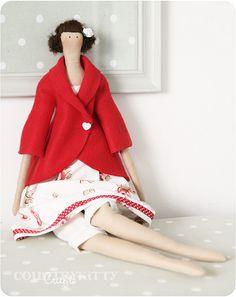 Dama de vermelho...