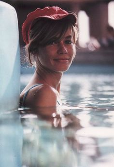 Francoise Hardy in the pool