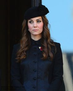 Duchess Kate: Kate Solemn In Temperley For Remembrance Sunday #katemiddleton