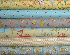 6 Fat Quarters from the Fox Playground Collection. These are high quality designer quilting fabrics cut from the bolt. Each cut is 18x 20/22