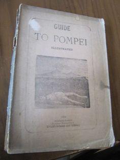 SCARCE GUIDE TO POMPEI GREECE 1898 SCAFATI 1ST EDITION ILLUSTRATED!